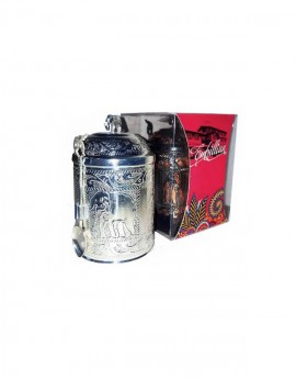Premium Silver Caddy With Spoon